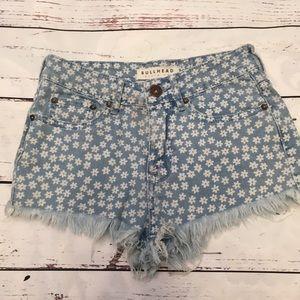 Bullhead floral denim shorts